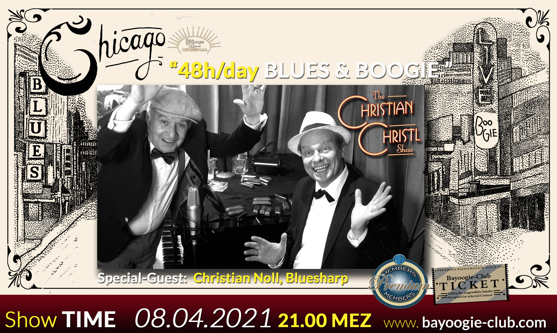 48 h pro Tag Chicago Blues & Boogie – Online Stream
